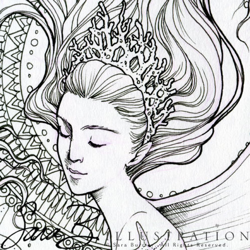 498x498 Mermaid Portrait