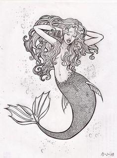236x317 Dark Blobby Mermaid Painting