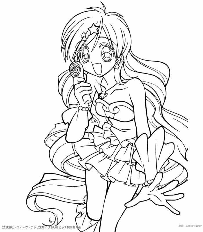 700x800 Anime Mermaid Coloring Pages For Girls Preschool To Snazzy Draw