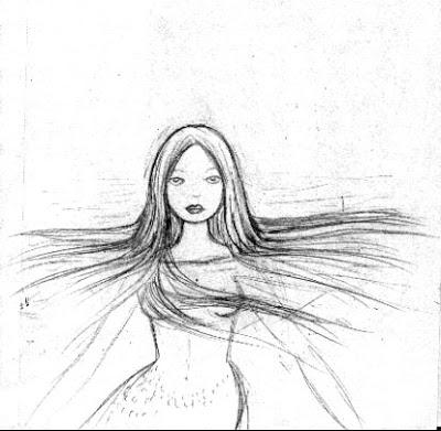 400x391 Artghost Mermaid Sketches