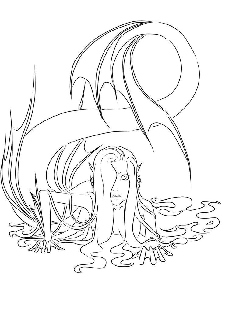 Perfect 752x1063 Mermaid Lineart By SeishinOkami On DeviantArt