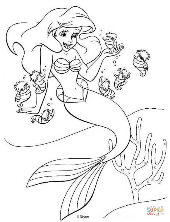 581x760 Charming Little Mermaid Coloring Pages 19 With Additional Seasonal