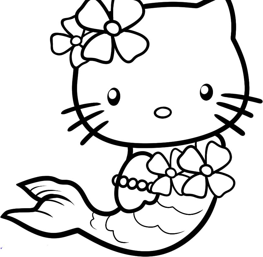 Mermaid Outline Drawing At Getdrawings Com Free For Personal Use