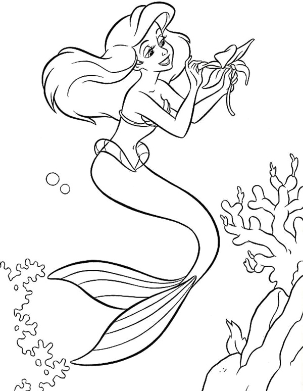 600x774 Princess Ariel Make A Bet Coloring Page Princess Ariel