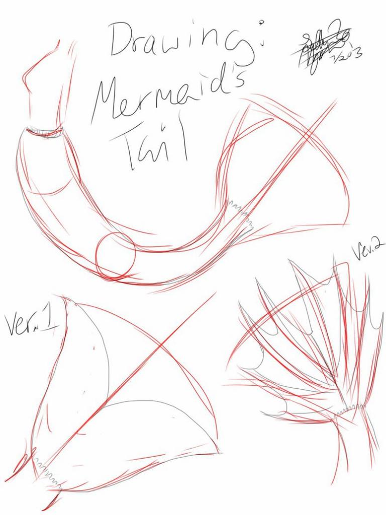 768x1024 How To Draw A Mermaid How To Draw A Mermaid Girl Mermaid Girl Step