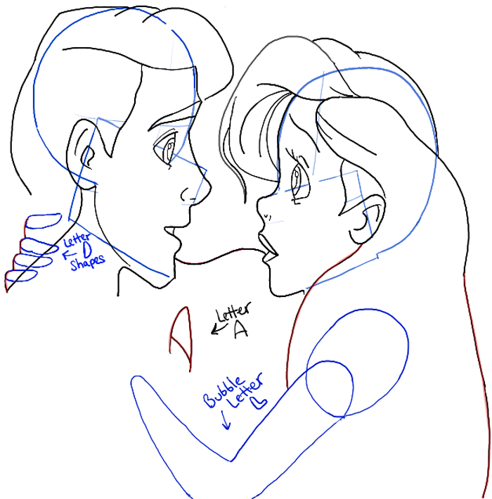 700x709 How To Draw Ariel And Eric From The Little Mermaid In Easy Steps