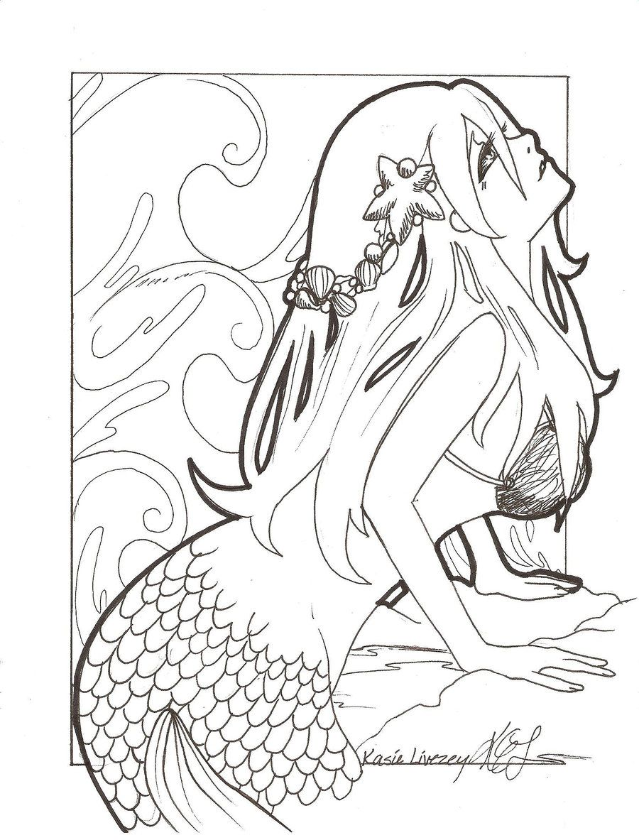900x1183 Sexy Adult Coloring Pages Anime Mermaid Drawing Mermaid