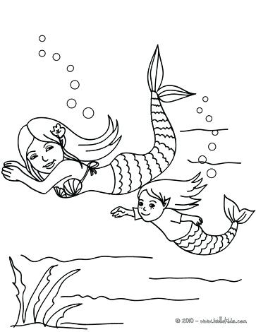 363x470 Group Of Young Mermaids Swimming Eke Coloring Pages Pool Pictures