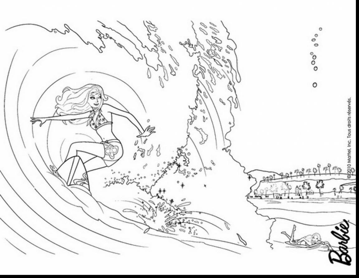 1152x892 Little Mermaid Swimming Coloring Pages Copy Outstanding Barbie