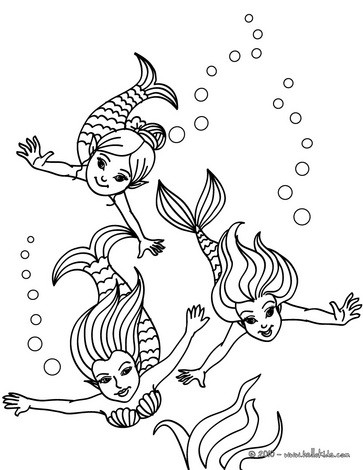 363x470 Mermaid Coloring Pages