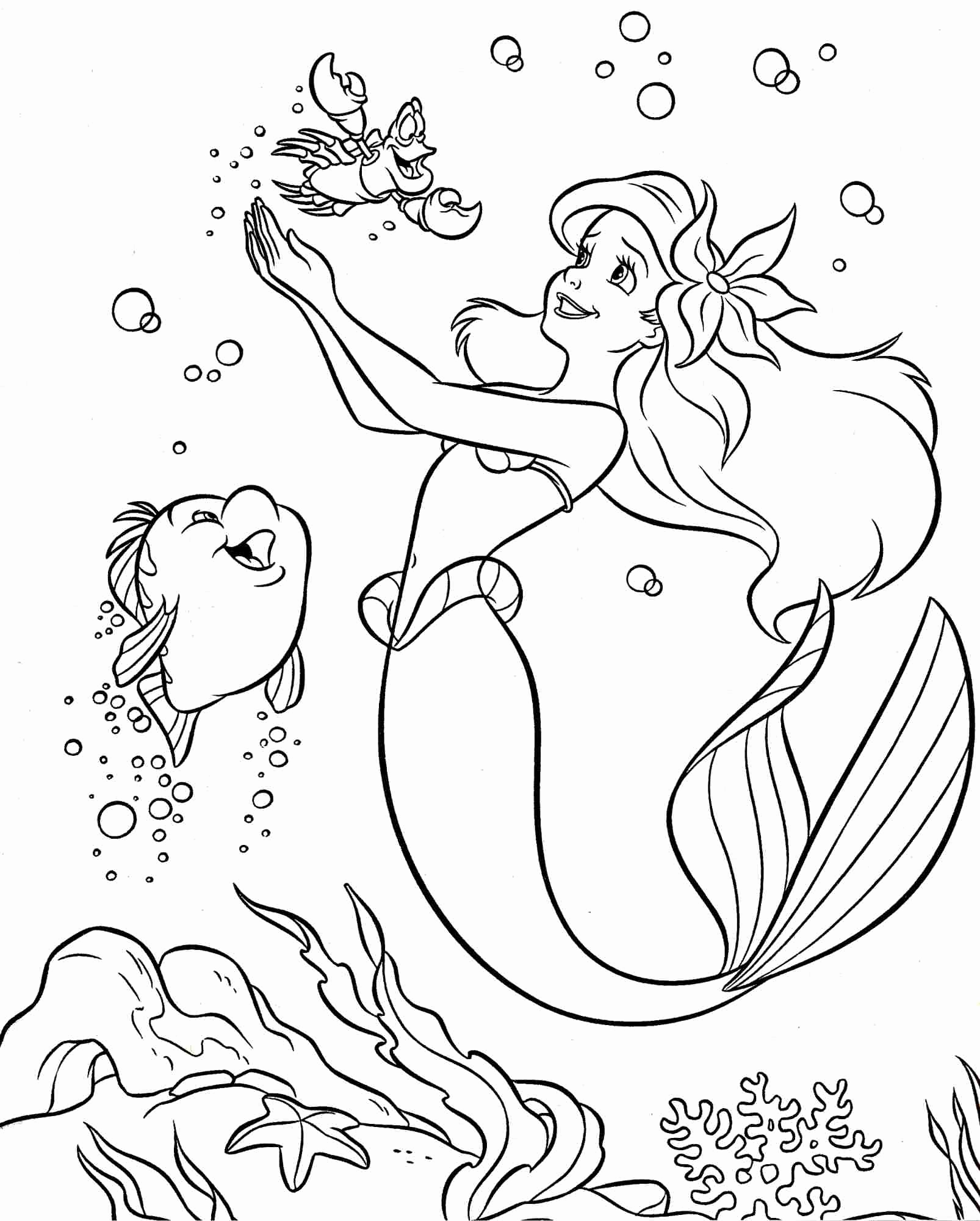 1606x2000 Little Mermaid Swimming Coloring Pages Coloring Pages Template