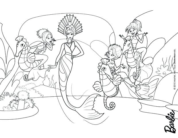 620x480 Barbie Mermaid Tail Coloring Pages Extraordinary On Seasonal
