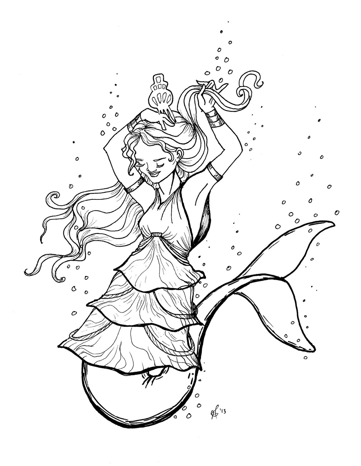 1239x1600 Mermaid Tail Coloring Pages 28693,