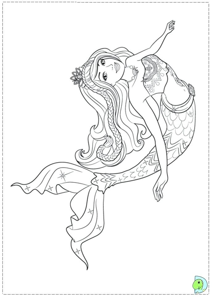691x960 Mermaid Tail Coloring Pages Princess Of Beautiful Barbie As Free