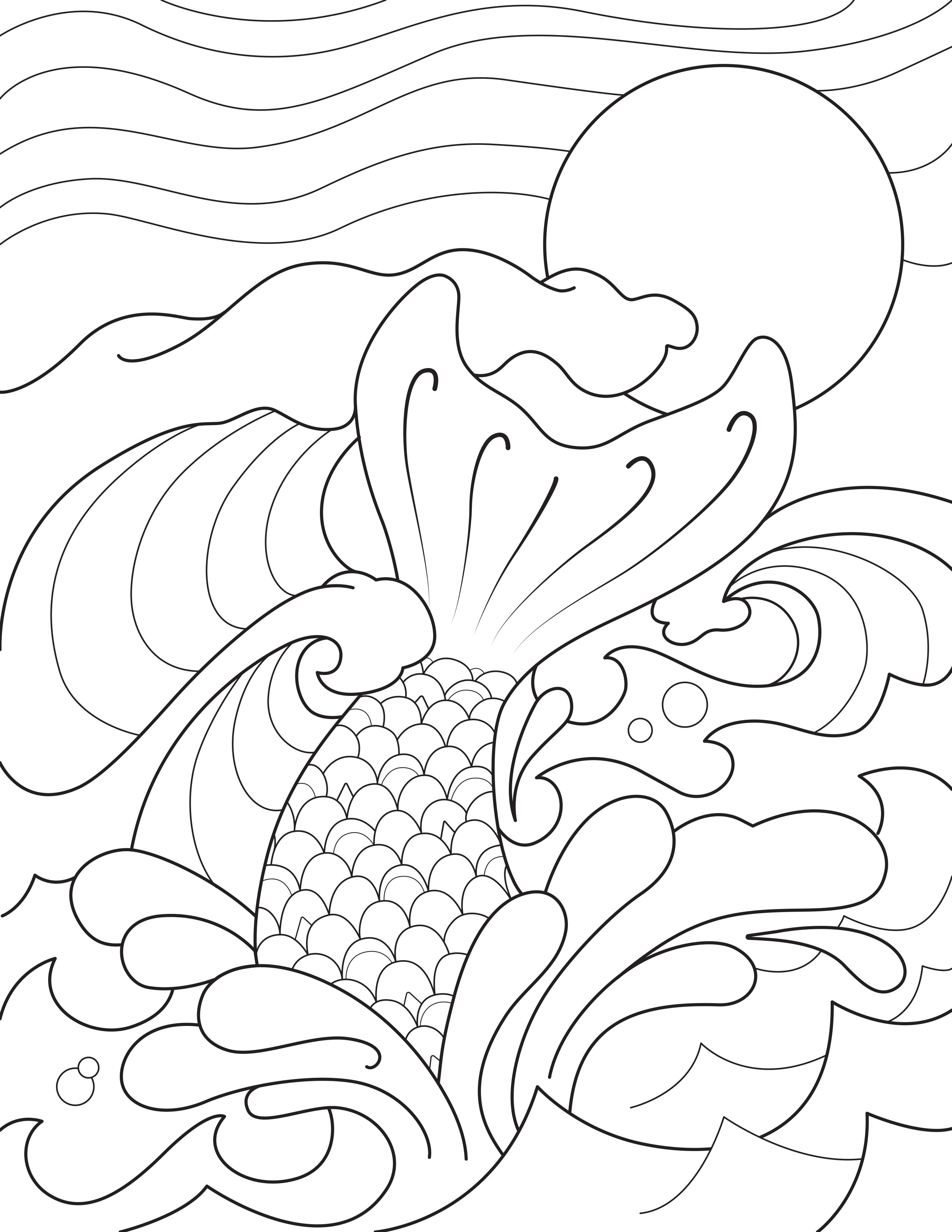 2550x3300 Mermaid Tail Coloring Pages Wallpapers