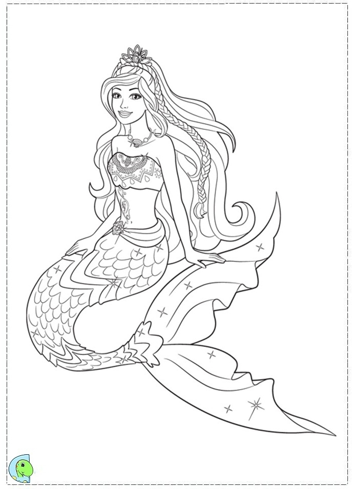 691x960 Mermaid Tail Coloring Pages