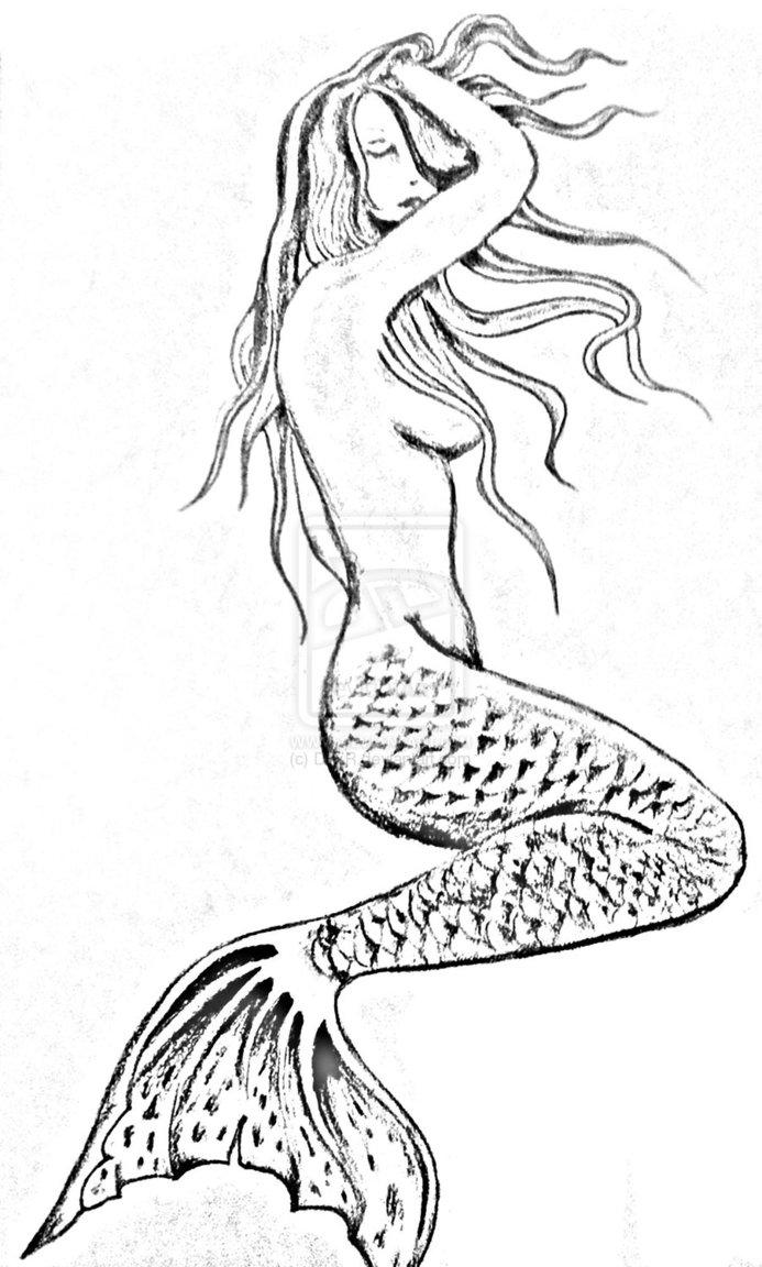 693x1152 Seductive Mermaid By Dtlr Mermaid Tattoos Mermaid