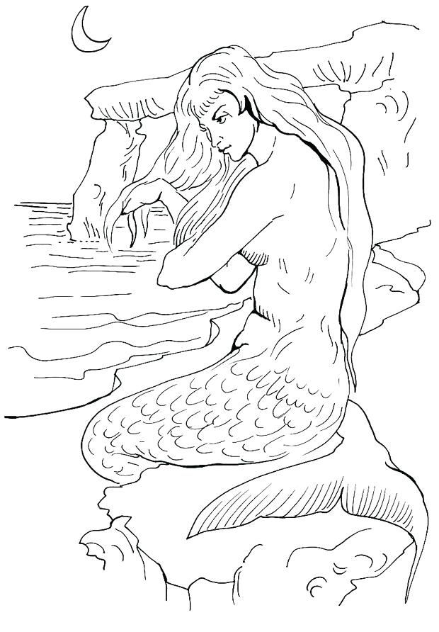 620x892 Coloring Pages Of Mermaids Plus Mermaid With A Crown Colouring