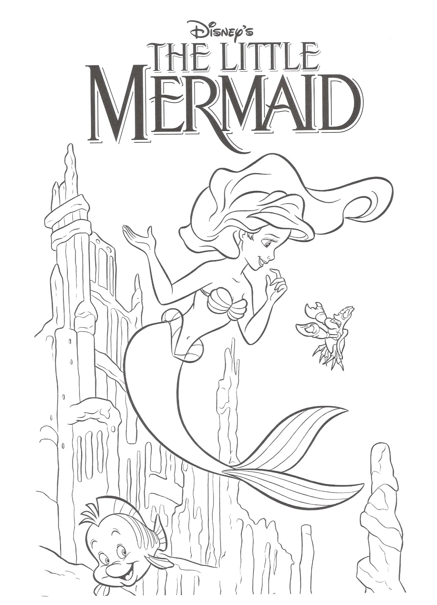 1446x2000 Mermaid Coloring Pages Printable Free Draw To Color