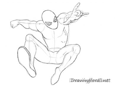 388x300 Cram21 Spiderman How To Draw. Coloring Page Mermaid. Coloring