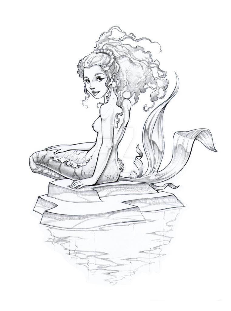 762x1024 Beautiful Mermaid Drawing How To Draw A Mermaid Girl Mermaid Girl