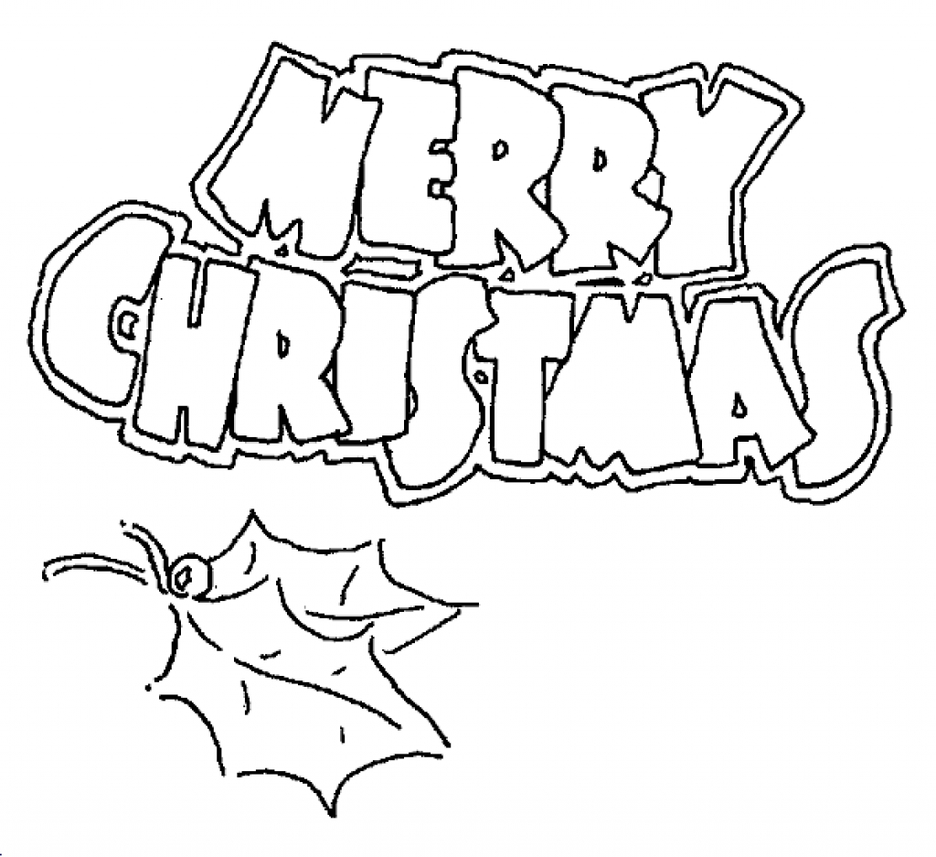 1024x937 Merry Christmas And Happy New Year Coloring Pages Archives