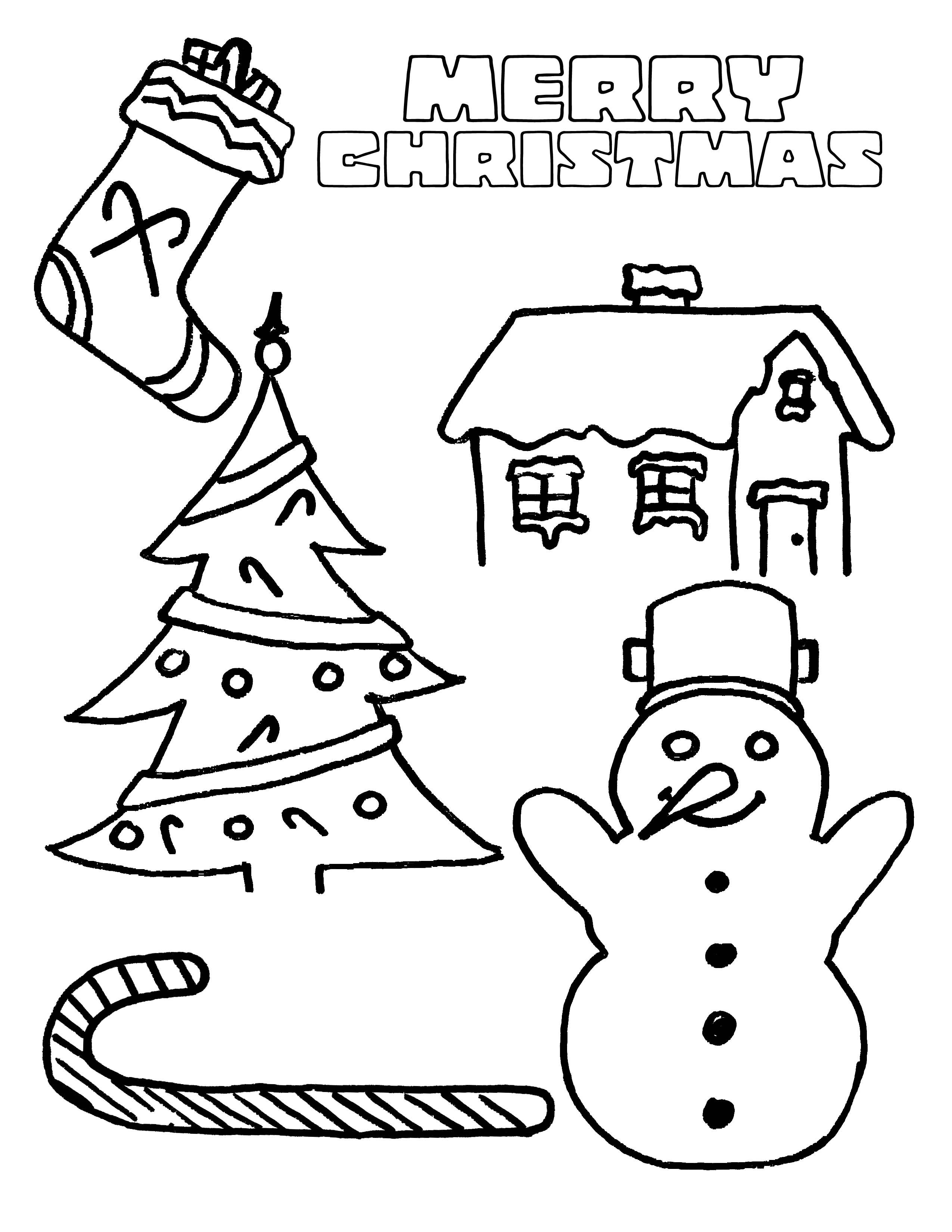 2550x3300 Merry Christmas Coloring Pages For Kids Free Printable