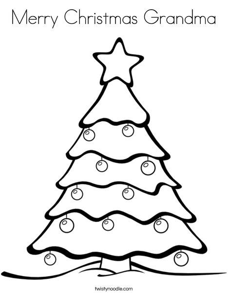 468x605 Merry Christmas Grandma Coloring Page