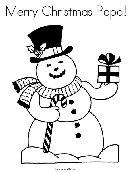 468x605 Merry Christmas Papa Coloring Page