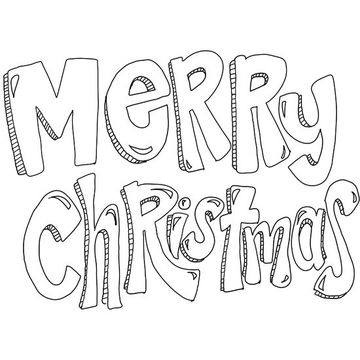 360x360 Printable Christmas Coloring Pages