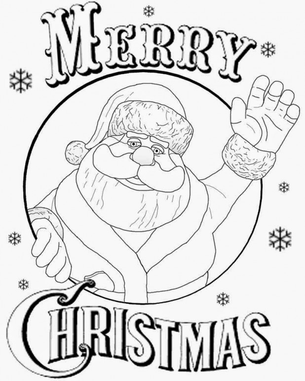618x773 Simple Christmas Card Drawing Santa Claus Say Merry Christmas
