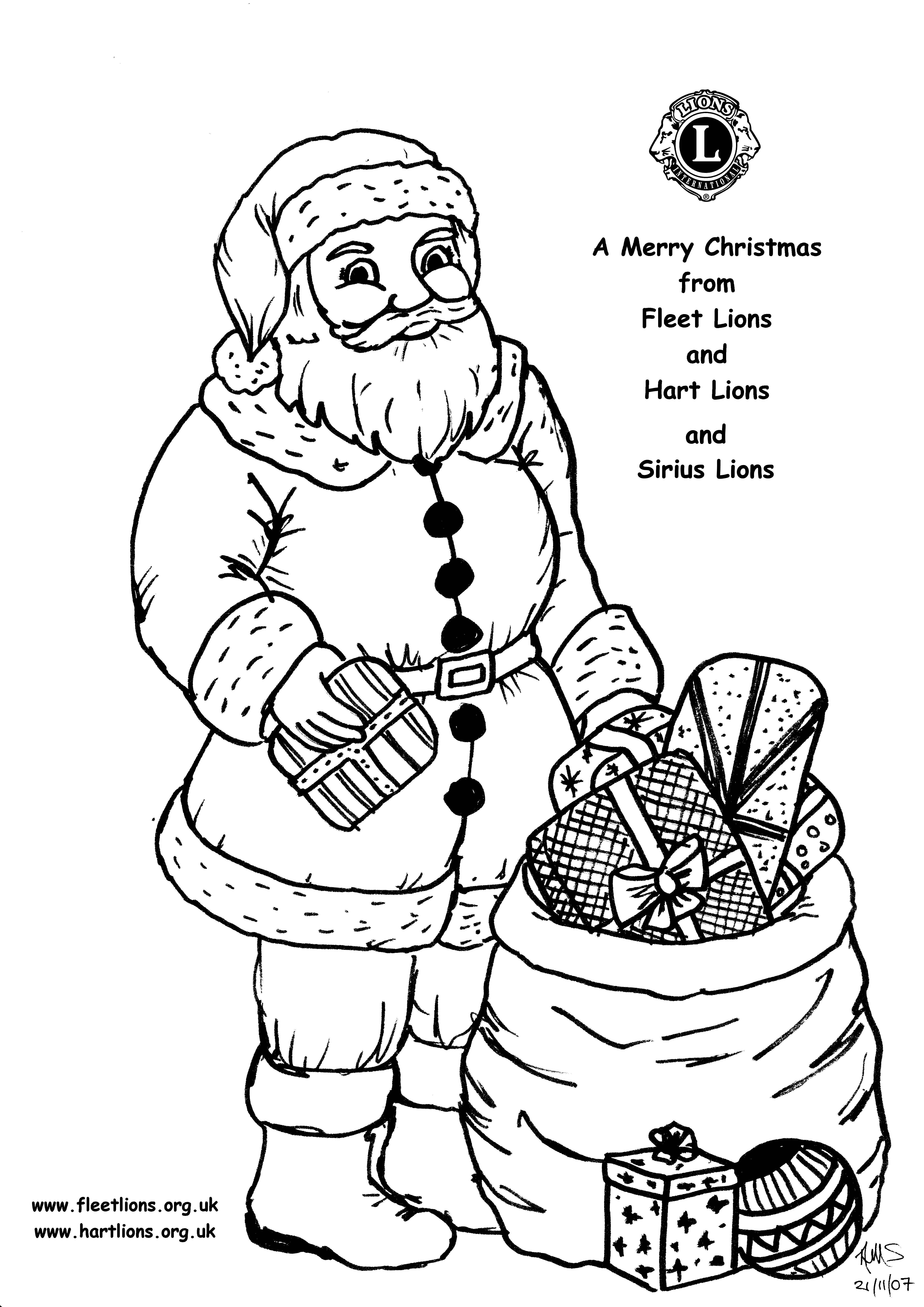 4960x7015 Christmas Drawings Of Santa Merry Christmas And Happy New Year 2018