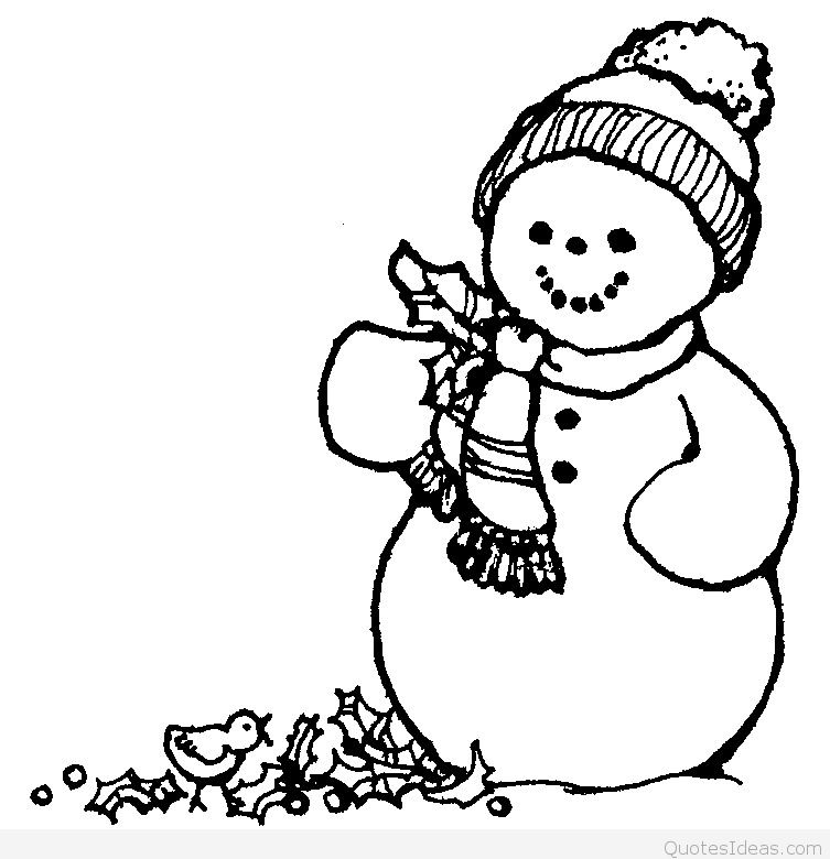 753x780 Drawn Snowman Merry Christmas