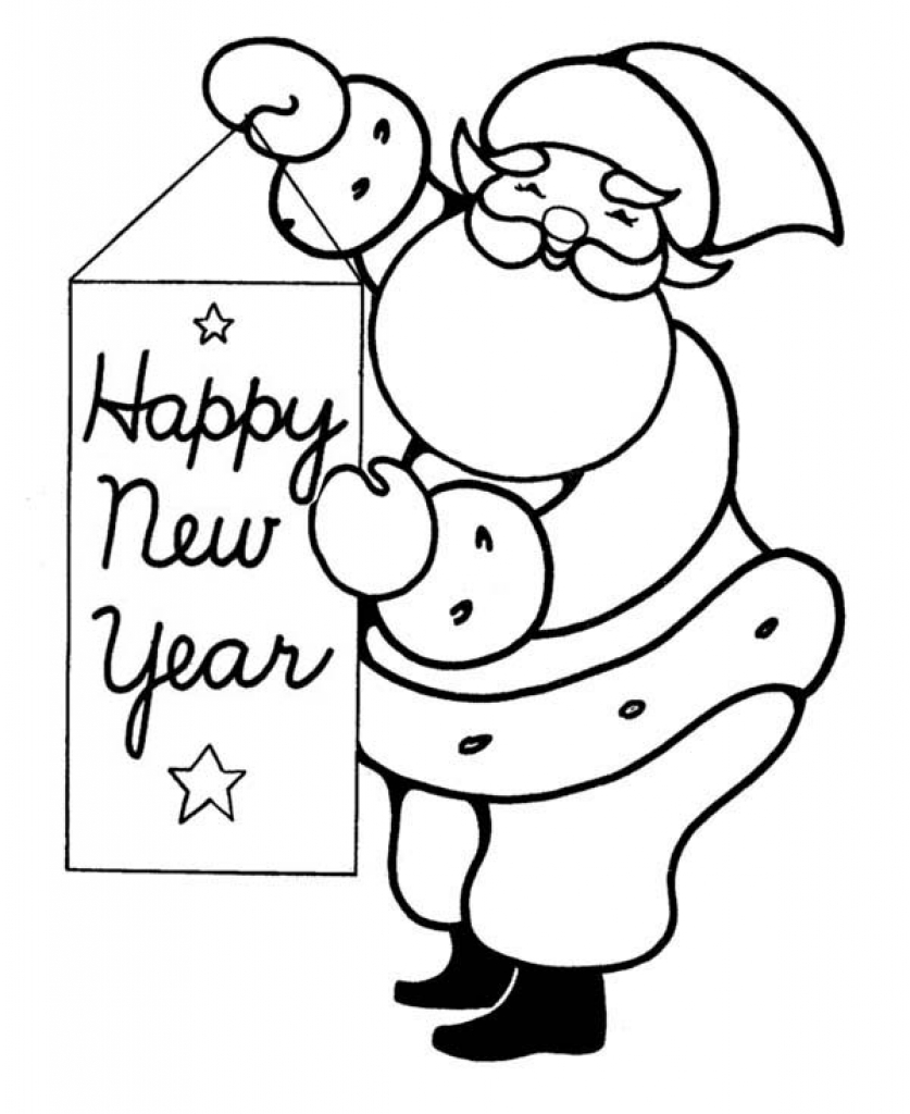 837x1024 Merry Christmas And Happy New Year Coloring Pages Archives
