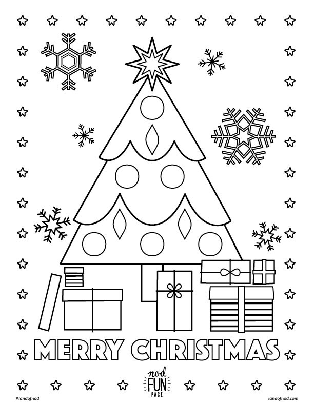 612x792 Merry Christmas Printable Coloring Page Honest To Nod