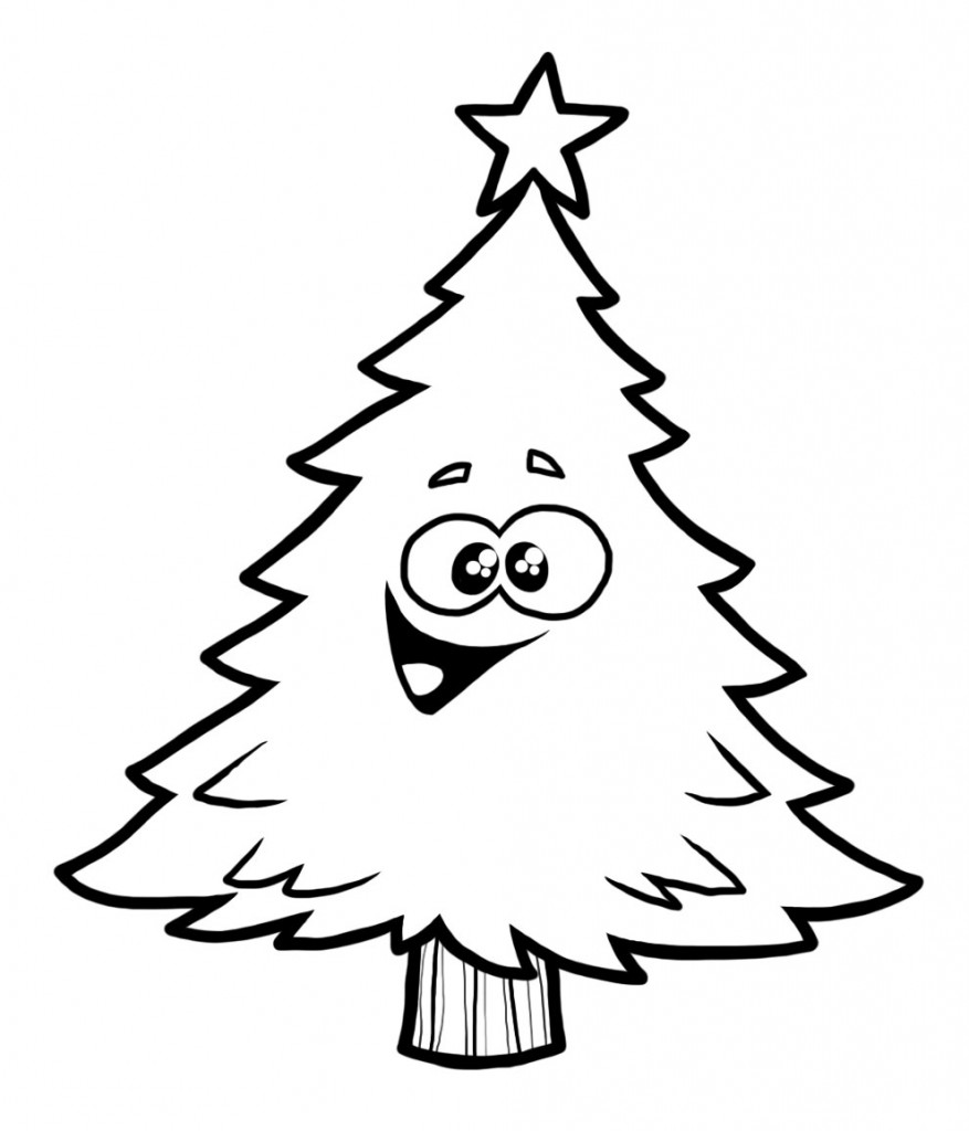 877x1024 Christmas Tree Drawing Template