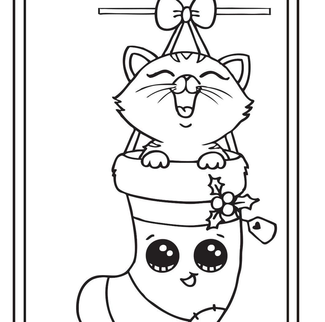 1060x1050 Holiday Christmas Coloring Sheets For Kids Free Card Pages