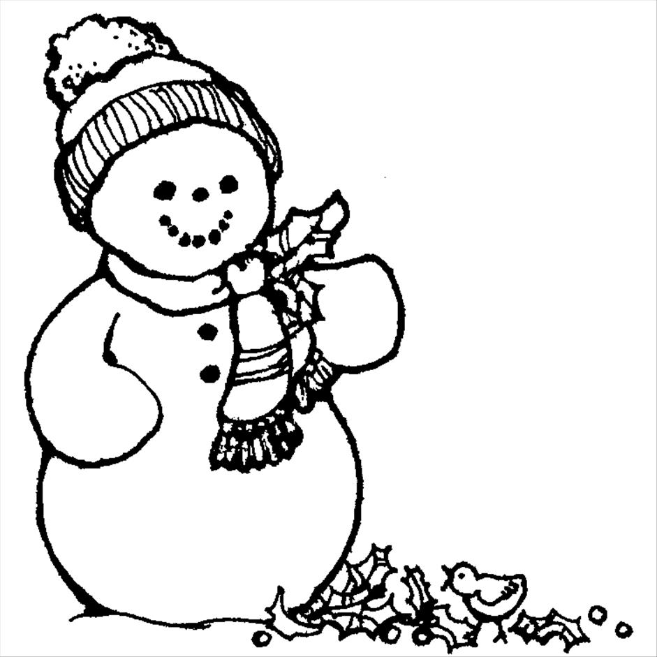 941x941 Merry Christmas Drawing Snowman Pictures