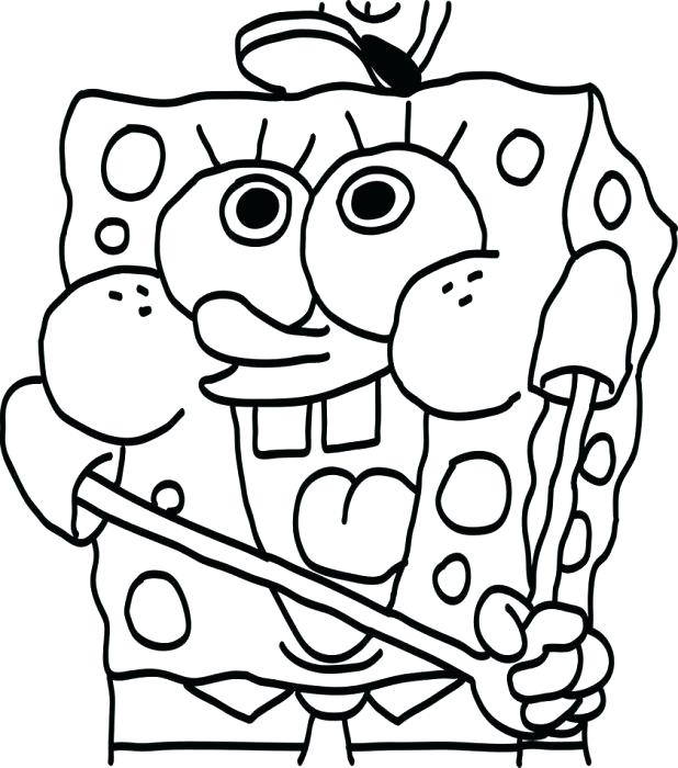 618x700 Spongebob Coloring Pages Christmas Perfect Baby Coloring Pages