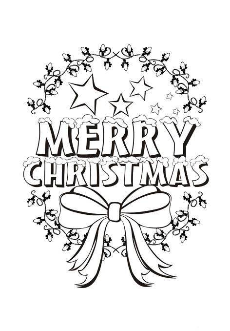 472x678 Beautiful Merry Christmas Coloring Pages For Kids Teaching