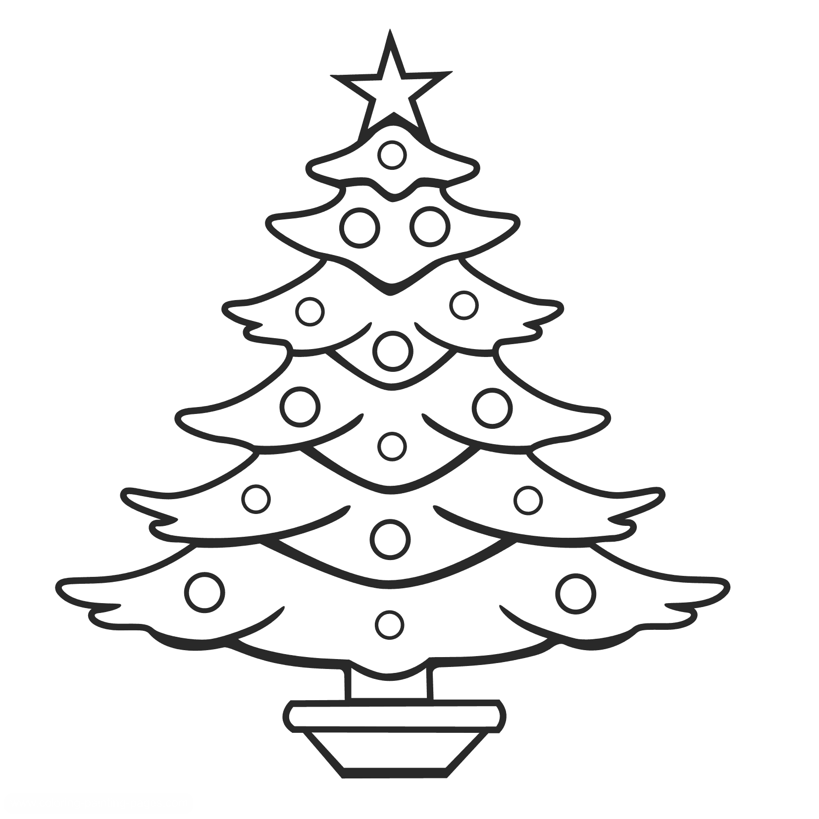 Merry Christmas Tree Drawing