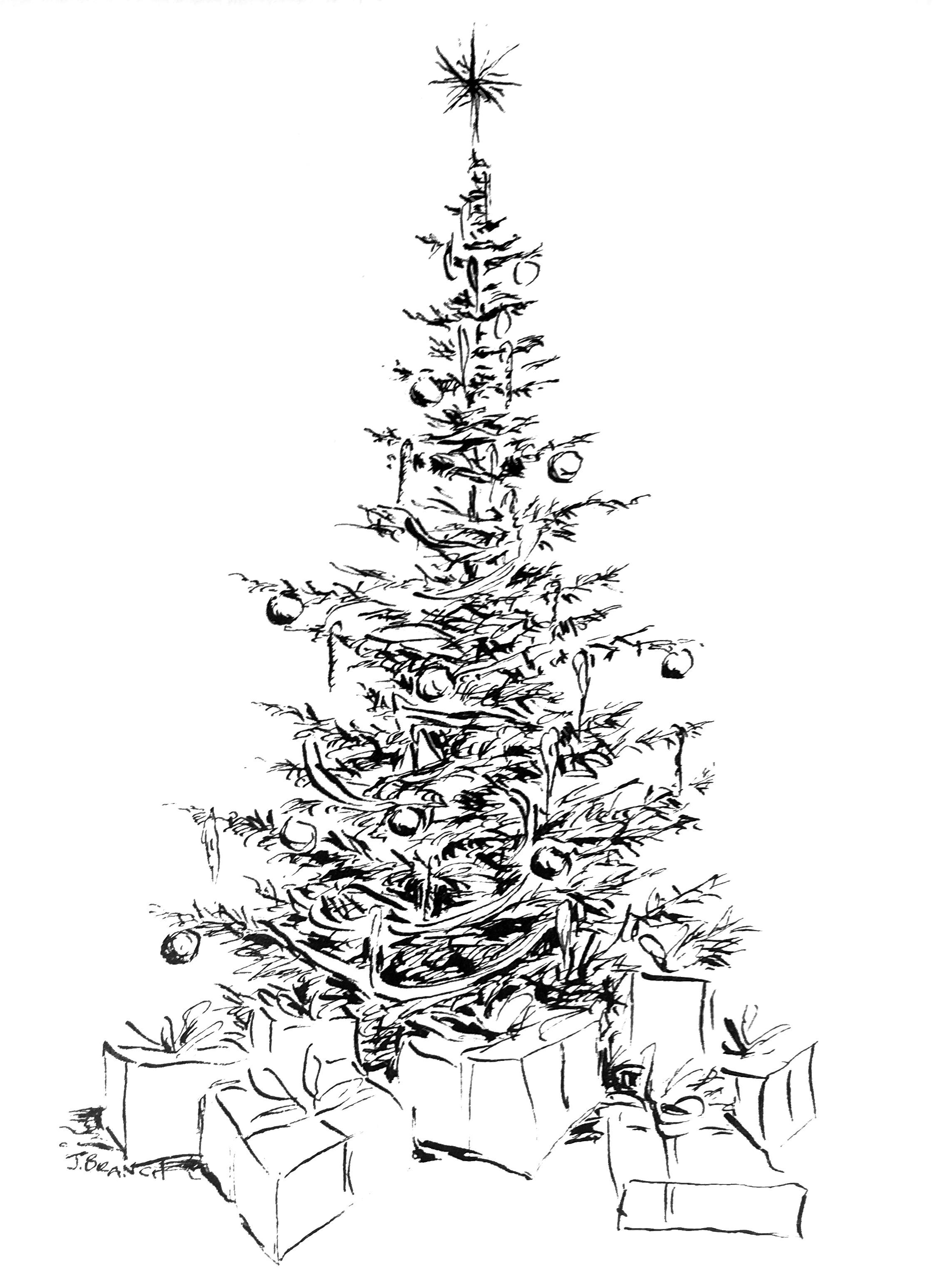 2242x3097 Christmas Tree Card