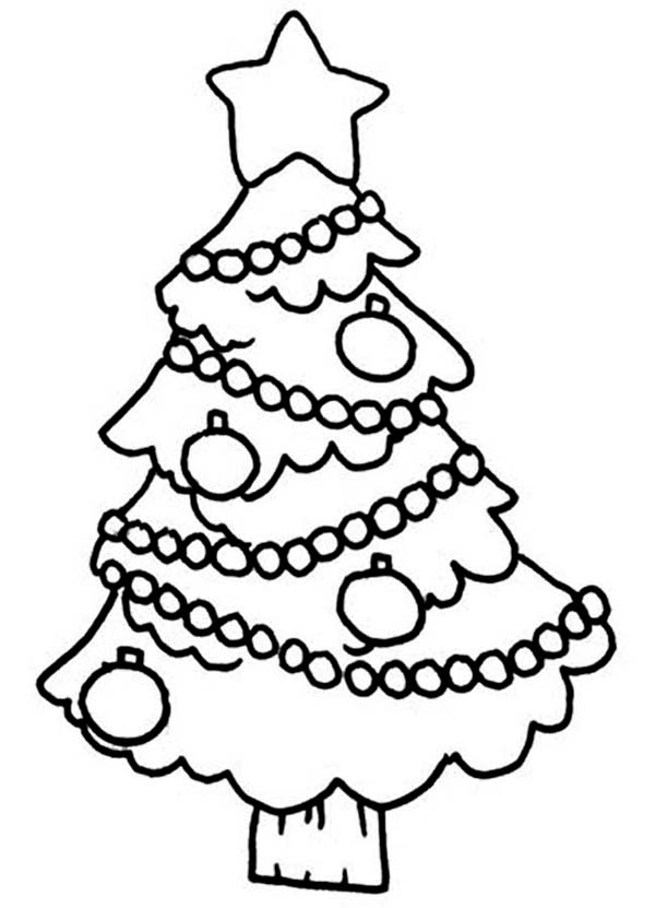 600x831 Christmas Tree Hanging Ornament On Christmas Coloring Page Color