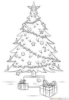 236x340 Artistic Christmas Tree Drawing Merry Christmas Amp Happy New Year