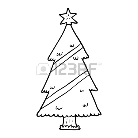 450x450 Line Drawing Christmas Stock Photos. Royalty Free Line Drawing