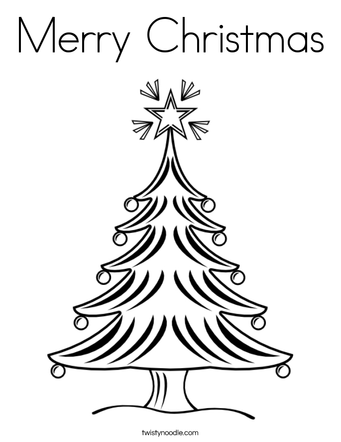 Merry Christmas Tree Drawing at GetDrawings.com | Free for personal ...