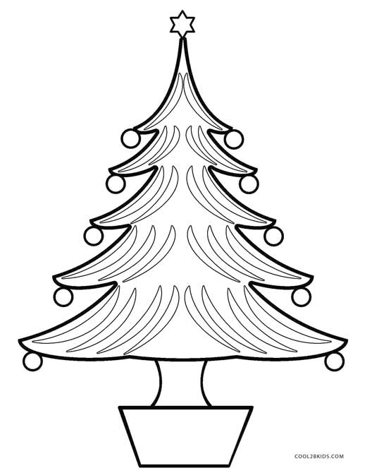 528x670 Printable Christmas Tree Coloring Pages For Kids Cool2bkids