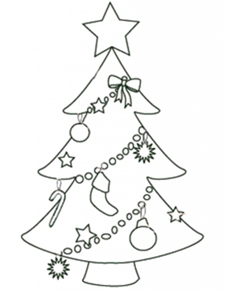 791x1024 Christmas Tree Drawing Template