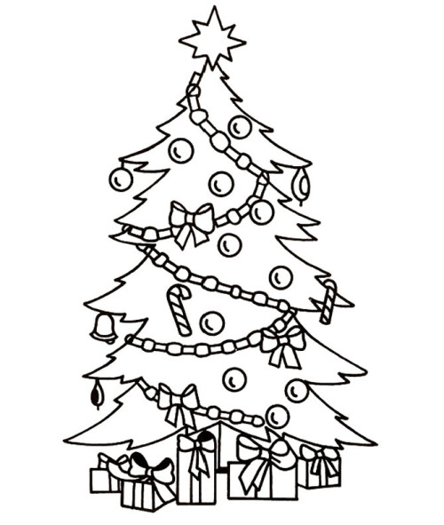 500x591 Christmas Tree A Beautiful And Cool Coloring Page Pt Gradi