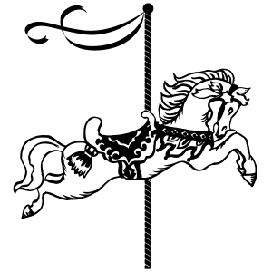 300x300 Merry Go Round Horse Coloring Page